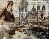 France Digital Print Art for her Decoupage paper Printable Art Instant Download Commercial Use Digital Paper  Graphic Designer