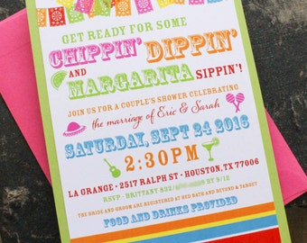 Fiesta Couples Shower Invitation | Bridal Shower Invitation - Design Fee