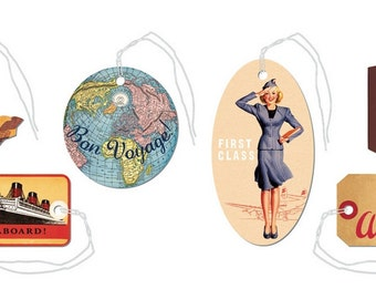 SALE Vintage travel gift tags Cavallini