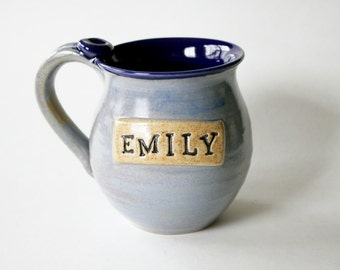Personalized Name Mug - Custom Color and Name Coffee Cup - Made To Order