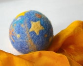 Starry Night Comet Ball:  Midnight Toy Ball (All Natural Wool and Silk Toy)