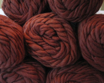 6 dollars SALE ~ Lamb's Pride BULKY (Super BULKY) yarn ~ Color: Cocoa