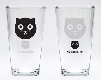 Watson the Cat Pint Glass