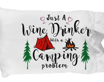 Camping gift, Gift for Her, Gift for Women, camping pillow case, hiking gift, love camping ,love camping, gift, love hiking gift, tent,