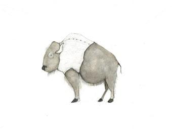 buffalo with sweater