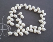 Sale Destash white freshwater diagonal drilled pearls, white pearls, freshwater pearls
