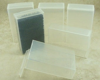 6 Large Easy Storage Flip Top Containers 40 gram size - Beads Small Parts Candy Jewelry Making Supply