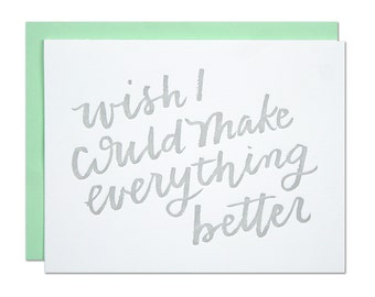 Wish I Could Letterpress Card