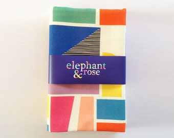 Printed Geometric linen/cotton tea towel ON SALE 40% off!