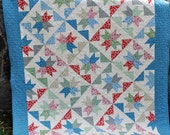 Patchwork QUILT PATTERN....Layer Cakes or Fat Quarters, The Brightest Star