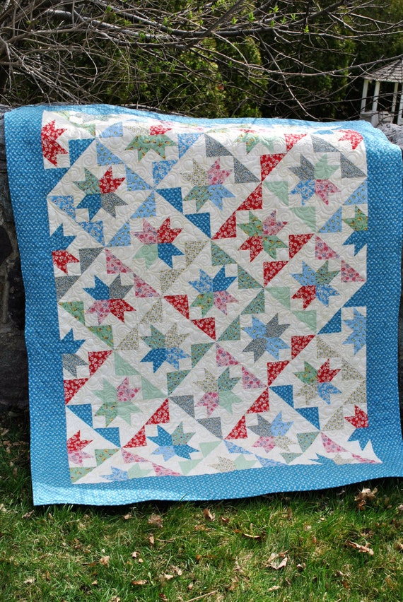 Patchwork QUILT PATTERN....Layer Cakes or Fat Quarters The