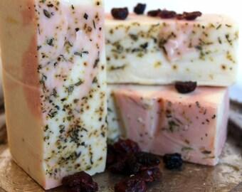 Cranberry Souffle' - Handmade Artisan Saop