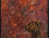 Gold Cat Art Print