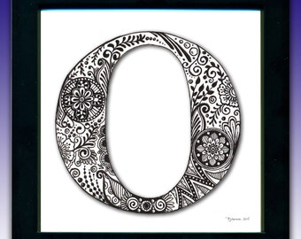 Framed 'O' Monogram Print