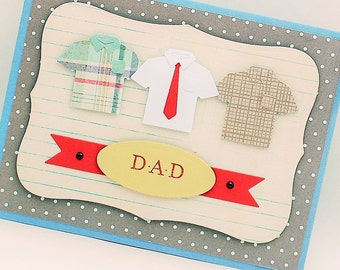 Dad Card, with Matching Envelope,  Father's Day Card, Blank Card, Dad's Birthday Card, Dad Retirement Card, Congratulations Card etc