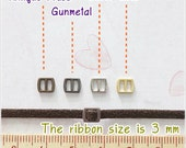 Tiny Mini Metal Silver / Antique brass / Gold / Gunmetal Buckles 3 mm  - 10 pcs - Blythe Doll Dress Supplies