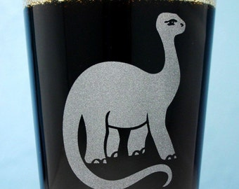Brontosaurus Dinosaur pint glass beer gift