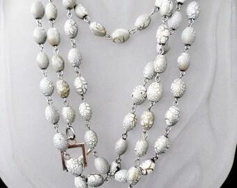 Crackle Glass Long Necklace, Lariat, Multi Wrap, Versatile, Many Styles Necklace, Necklace and Bracelet set
