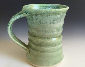 Large 15  ounce mug in green stein tankard