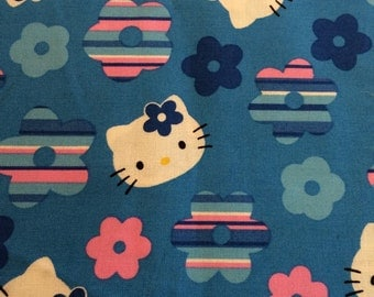 Hello Kitty Fabric - Cotton Quilting Fabric  - 2 yards