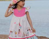 The Butterfly Dress - Flutter Sleeve Dress Sewing Pattern PDF - Girls 2 to 8