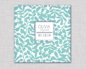 New GIRL Modern Baby Memory Book (Vines Album  9.25 x 9.5)