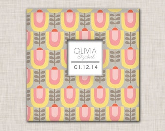 New Girl Baby Memory Book (9.25 x 9.5) Flower 1 Cover