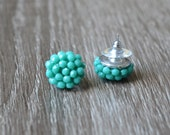 Turquoise studs, Turquoise stud earrings, small stud earrings, Turquoise earrings cluster earrings