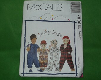 McCall 7800 Toddler Jumpsuit Jumping Beans Pattern uncut