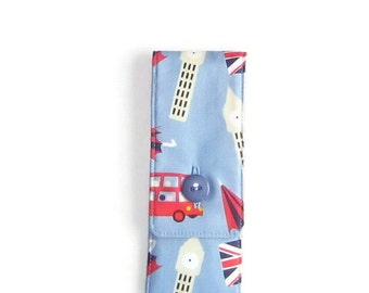 Sock Knitting Needles and Tools Mini Case,  6 inches, Small Sock and Go - London Calling