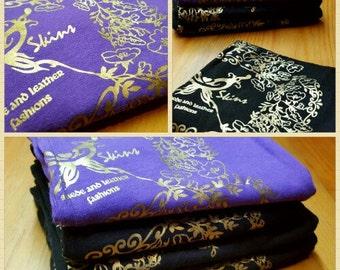 BLACK Tee Shirt   Spaghetti Strap Top   Women's V Neck T Shirt   Organic Cotton Tank   Gold Pearl Floral   Motorcycle Biker Chic Clothing