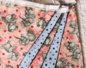 HALF PRICE Elephant Fabric Bunting.  Photo Prop, Nursery Decoration, Party Banner, Shower Decor. For Girls Too...