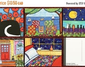ON SALE Cat Postcard Pack  Shelagh Duffett Cat Art