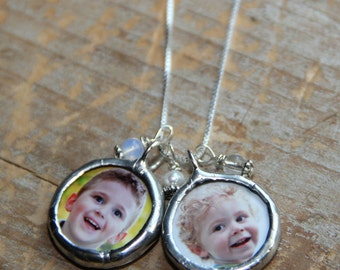 New Mom Necklace- Mommy Necklace- Personalized Photo Necklace-Custom Photo-Grandma Necklace-Mother's Day Jewelry