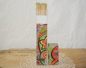 mod box vintage Fireplace and barbecue matches groovy design box