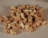 75 Miniature Wooden Spools 1/2 inch by 3/8 inch