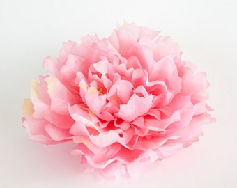 EXTRA LARGE Pink Peony - 7 inches -- Artificial Silk Flower - ITEM 0515