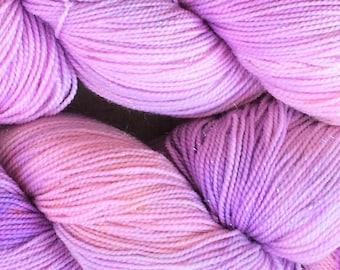 "SPARKLY pinky purple sock yarn - ""Twinkle Toes"" - in stock!"