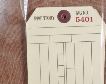 Mercantile Tags / Set of Twelve / Manilla / DIY