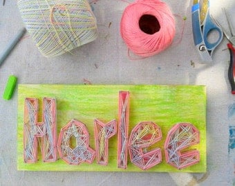 Personalized  baby girl / baby boy name String Art 12'' wall art- home decor- by eileenaart