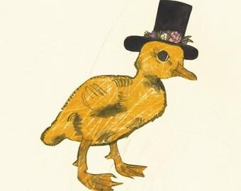 A Clever Little Duck - FINE ART PRINT