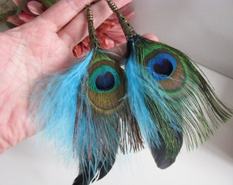 peacock feather, feather earrings, peacock earrings, peacock jewelry, feather jewelry, peacock feathers, peacock earring, feathers