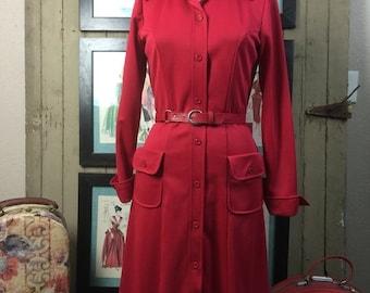 On sale 1960s dress coat 60s mod dress size medium Vintage office dress vintage dress