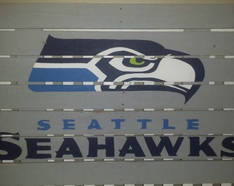 Seattle seahawks 12th man sign made from reclaimed lumber for Reclaimed wood flooring seattle