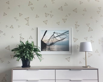 Triangle geometric wall stickers - children wall decals - nursery wall decals, stickers home  or officedecor