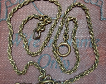 Vintage Watch Chain Twisted Style