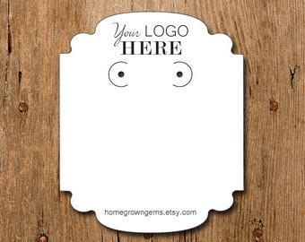 Custom Earring Display Cards with your Logo | DS0096