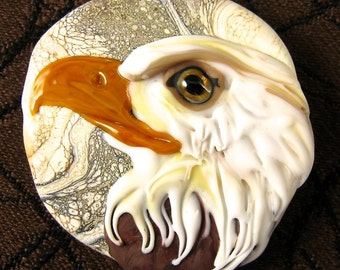 NEW Lampwork Eagle Focal Bead by Kerribeads