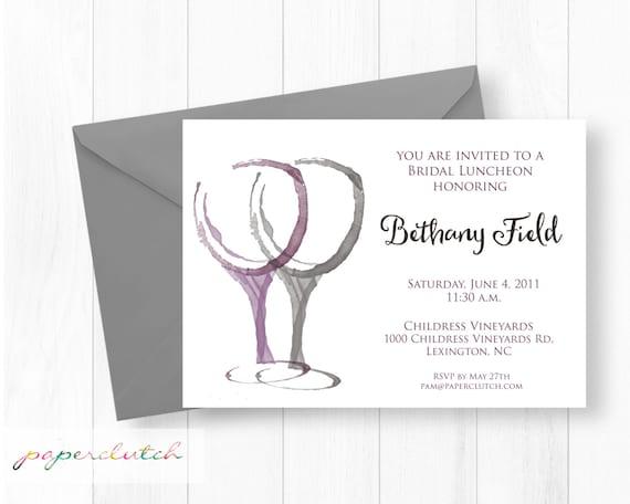 Vineyard Bridal Shower Luncheon Invitation -  Winery Invitaion - Ladies Lunch - Wine Tasting Invitation - Wedding Shower Digital Invitation