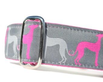 "1.5"" Dog Collar Hound Amore Fuchsia - Choose Your Collar Style!"